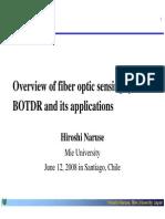 Fibre Optic Sensors BOTDR and Its Applications