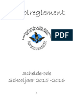 Schoolreglement 2015-2016 Schelderode