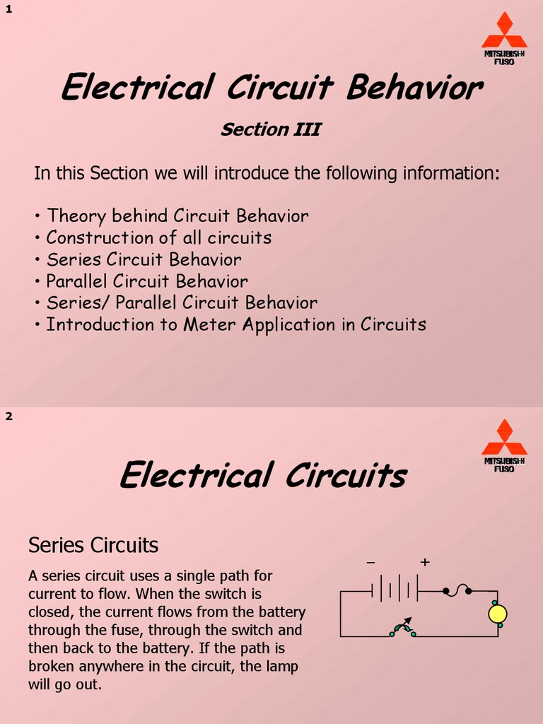 Electrical Circuit Behavior Series And Parallel Circuits In Resistance Conductance