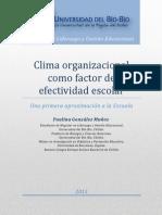 Ensayo Clima Organizacional y Escuela