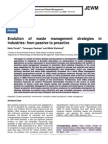 Evolution of waste management strategies in industries