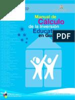 Manual de cálculo de la inversión educativa en Guatemala