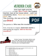Past continuous murder mystery