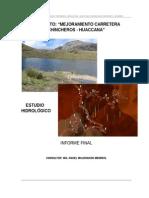 2.5 Estudio Hidrologico Chincheros - Huaccana
