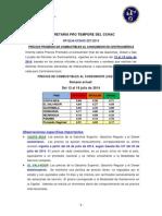 Precios CCHAC Del 13 Al 19 Julio 2014