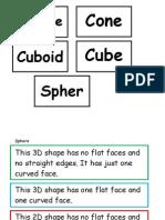 3 d Shapes True or False