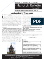 Lao Hamutuk Bulletin February 2010 Land Justice in Timor Leste