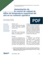 Prueba e implementación de algoritmos de control de calidad de datos de temperatura superficial del aire en un contexto operativo