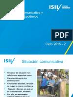 SITUACIÓN COMUNICATIVA Y ÁMBITO ACADÉMICO 2015-2.ppt