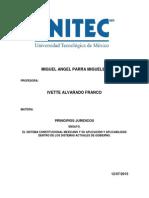 EL SISTEMA CONSTITUCIONAL MEXICANO Y SU APLICACIÓN Y APLICABILIDAD DENTRO DE LOS SISTEMAS ACTUALES DE GOBIERNO.
