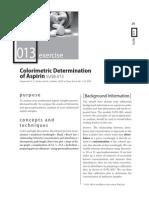 Aspirin determination colorimetric method