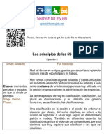 The 5S principles-Los principios de las 5S