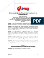 Ley 1373 Del Ejercicio Profesional Del Arquitecto
