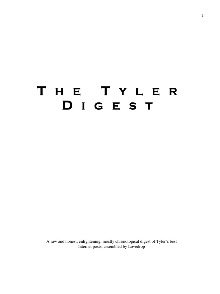 Tyler durden the tyler digest nonverbal communication self tyler durden the tyler digest nonverbal communication self improvement malvernweather Choice Image