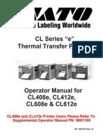 CL408_412e, CL608_612e Operator Manual