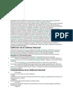 Defensa NAcional en el Peru