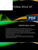 Operational Role of IA
