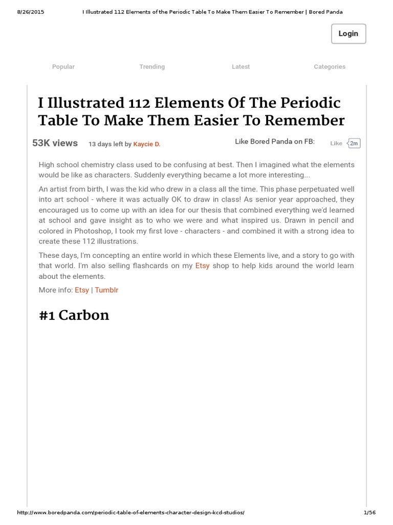 I Illustrated 112 Elements Of The Periodic Table To Make Them Easier