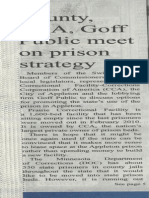 Monitor article about private meeting about prison