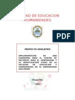PROYECTO EDUCATIVO GUARDERIA