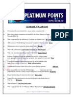 Platinum Points for IBPS Clerk-IV