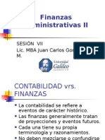 Finanzas Administrativas II, Semana VII