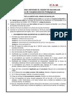 Requisitos Para Grado de Bachiller - Pcp