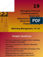Chapter 19 - Marketing Management