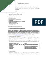 Pautas de Trabajo Final de Filosofía 2014 II