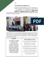EducaciÓn Primaria Actividades Del Primer Ciclo El