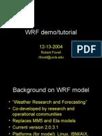 WRF Demo Nomovie