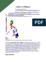 Mga Pangkat Etniko Sa Pilipinas