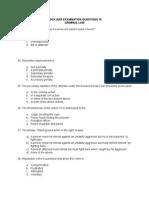 Mock Bar Examination Questions 7