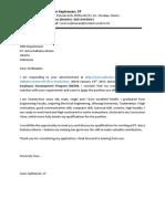 Aplication Letter ADM