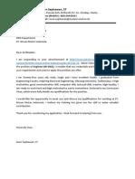 Application Letter PT. Nissan