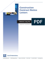 Long Intl Construction Contract Notice Letters