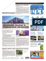 Asbury Park Press front page, Saturday, August 29, 2015