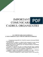 Comunicarea in Cadrul Organizatiei