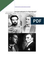 Estica 25feb2015 Mutti Revolutia Conservatoare Romania Eminescu Nae Ionescu Cioran Eliade Vulcanescu Legionarii