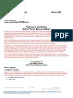 SPEC-3 - Performance Specification DuPont Tyvek CommercialWrap