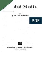 Romero, Jose Luis. -La Baja Edad Media- En La Edad Media