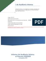 Modelo Informe de Auditoría Interna