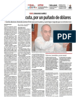 Alcalde de Cúcuta, por un puñado de dólares