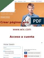 Orientaciones iniciales Wix www.iwx.com