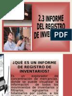 2.3 Informe Del Registro de Inventarios