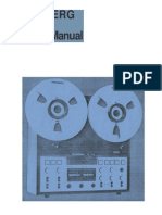 Service manual Tandberg td20a
