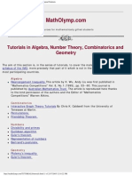 Mathematical Olympiad Math Olympiad Tutorials