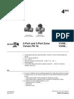 2-port 3-part valve