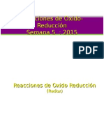 5 Reacciones de Oxido Reduccion 2015