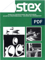 Fostex - Piani Di Costruzione Dei Diffusori Acustici Professionali & Crossover